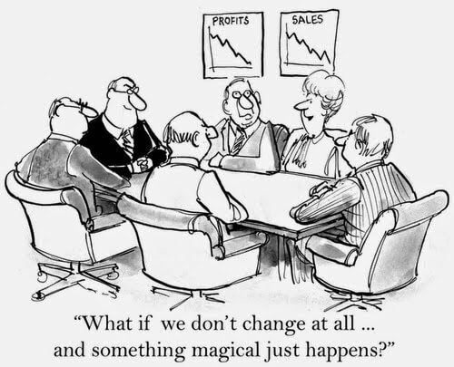 Change management comic - What if we don't change.