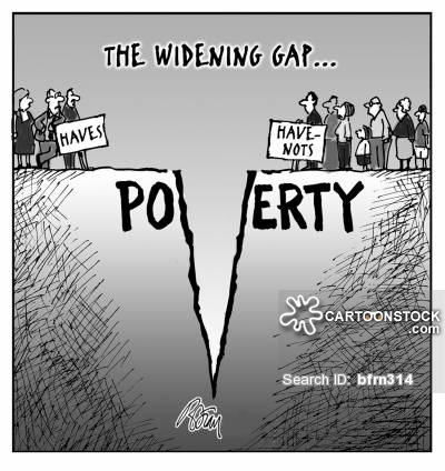 The widening gap...poverty.